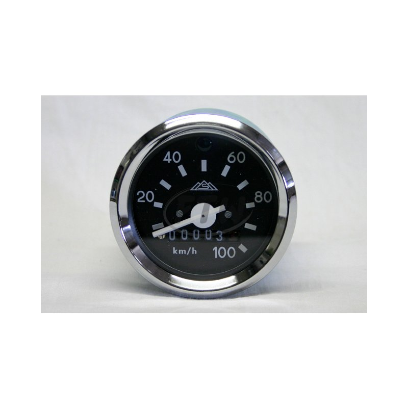 tachometer 100 km h mit beleuchtung f r simson s51. Black Bedroom Furniture Sets. Home Design Ideas